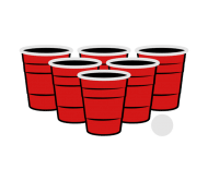 Beer Label - Beer Pong 3 Color Vector
