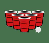 Beer Label - Beer Pong 3 Color Vector
