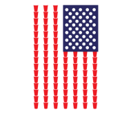 Beer Label - Beer Pong American Flag