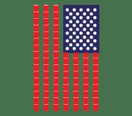 Beer Label - Beer Pong American Flag