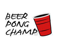 Beer Label - Beer Pong Champ 3 Color Vector Design