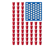 Beer Label - Beer Pong Drinking Game American Flag