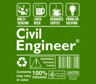 Beer Label - Beer Require Coffee Problem Solving Civil Engineer