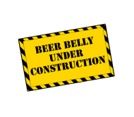 Beer Label - Black Beer Belly Under Construction