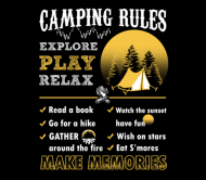 Beer Label - Camping Rules 'ÄÌ Time To Relax And Explore