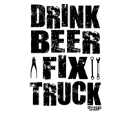 Beer Label - Drink Beer Fix Truck