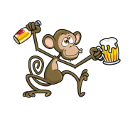 Beer Label - Drunk Monkey
