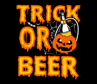 Holiday Beer Label - Halloween Gift For Beer Lover Trick Or Beer