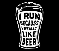 Beer Label - I Run Because I Really Like Beer