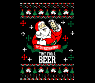 Holiday Beer Label - Its The Most Wonderful Time For A Beer Ugly Chris
