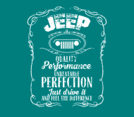 Beer Label - Jeep Just Drive It And Feel The Difference