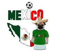 Beer Label - Mexico Football World Cup Pug