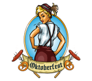 Celebration Beer Label - Oktoberfest Girl Emblem