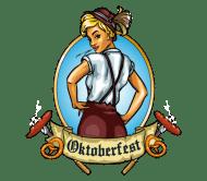 Celebration Beer Label - Oktoberfest Girl Emblem