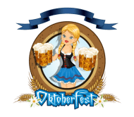 Celebration Beer Label - Oktoberfest Girl With Beer Logo