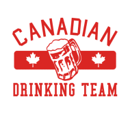 Beer Label - Red Canadian Drinking Team Men