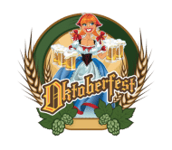 Celebration Beer Label - Oktoberfest Pin Up Red Headed German Beer