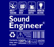 Beer Label - Sound Engineer Multi Tasking Likes Coffee Prob