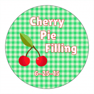Canning Label - Cherry Pie Filling