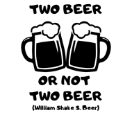 Beer Label - Two Beer