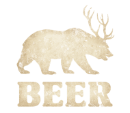 Beer Label - Vintage Bear Deer Beer