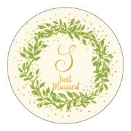 Wedding Sticker - Gilded Wreath