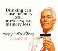 Birthday Beer Label - Drinking Causes