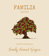 Expressions Wine Label - Mixed Leaves