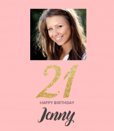 Birthday Wine Label - 21 Gitter Party