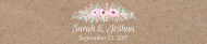 Wedding Water Bottle Label - Pinkish Blooms Kraft Paper