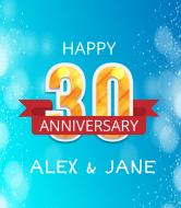 Anniversary Champagne Label - 30th Anniversary