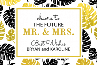 Wedding Mini Champagne Label - Tropical Dreams