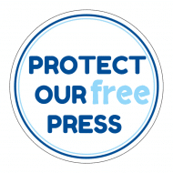 Expressions Sticker - Protect Our Free Press