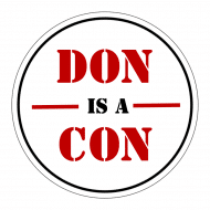 Expressions Sticker - Don Is A Con