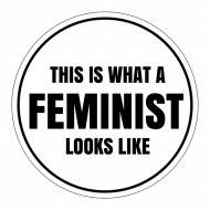 Expressions Sticker - This Is What A Feminist Looks Like