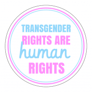 Expressions Sticker - Transgender Rights Are Human Rights