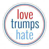 Expressions Sticker - Love Trumps Hate