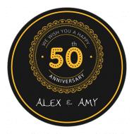 Anniversary Sticker - 50th Anniversary