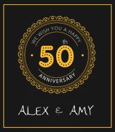 Anniversary Champagne Label - 50th Anniversary