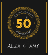Anniversary Wine Label - 50th Anniversary