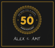 Anniversary Beer Label - 50th Anniversary