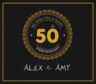 Anniversary Beer Label - 50th Anniversary