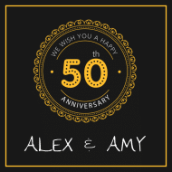 Anniversary Mini Wine Label - 50th Anniversary