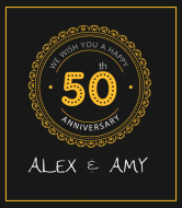 Anniversary Liquor Label - 50th Anniversary