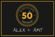 Anniversary Mini Liquor Label - 50th Anniversary