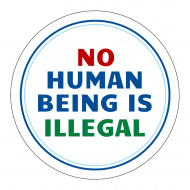 Expressions Sticker - No Human Being Is Illegal