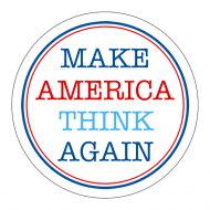 Expressions Sticker - Make America Think Again