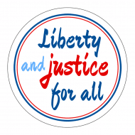 Expressions Sticker - Liberty And Justice For All