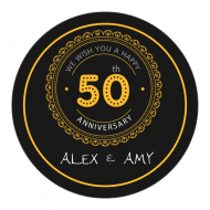 Anniversary Sticker - 50th Anniversary