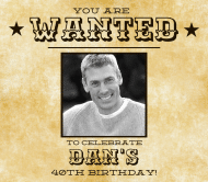 Birthday Beer Label - 40th Birthday Wanted
